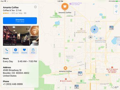 Apple Maps iPad App