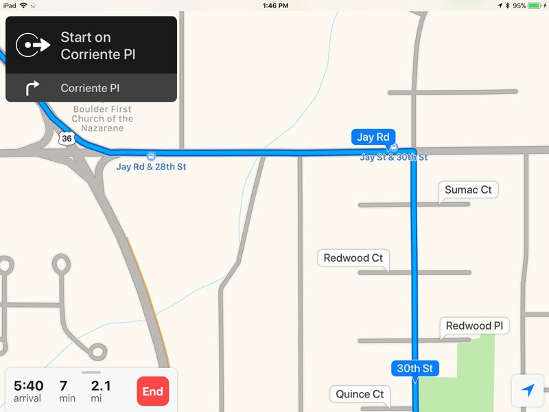 Apple Maps App Search Screen 7