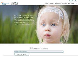 Children's Hospital Colorado with Amplifire Healthcare Alliance Website