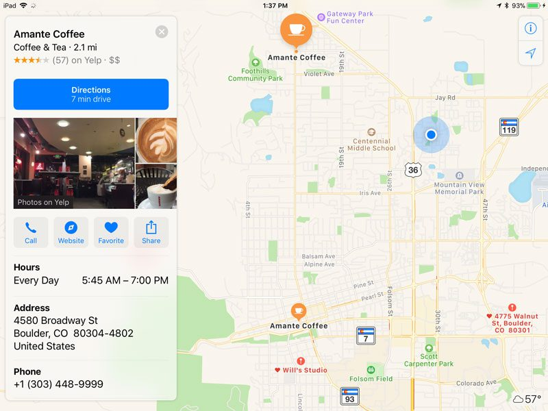 Apple Maps App Search Screen 3