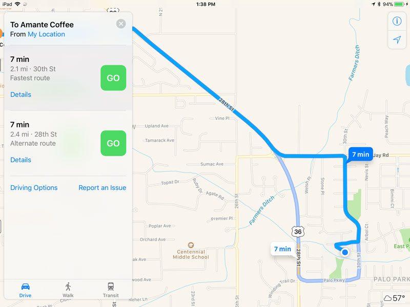 Apple Maps App Search Screen 5