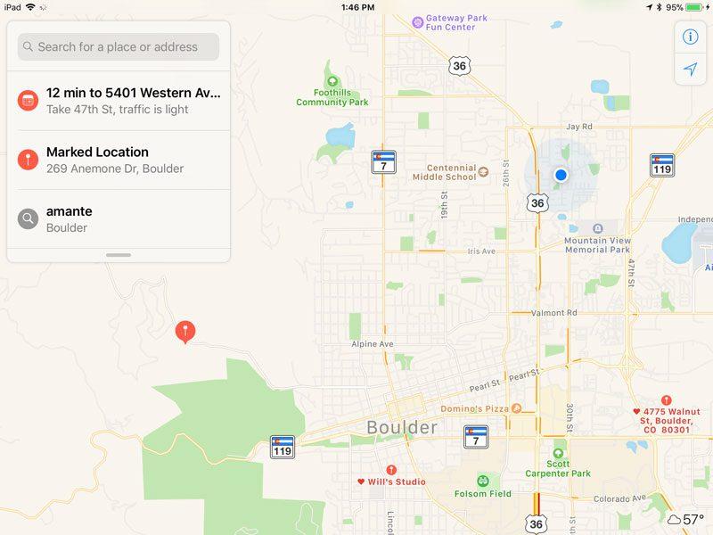 Apple Maps App Search Screen 6